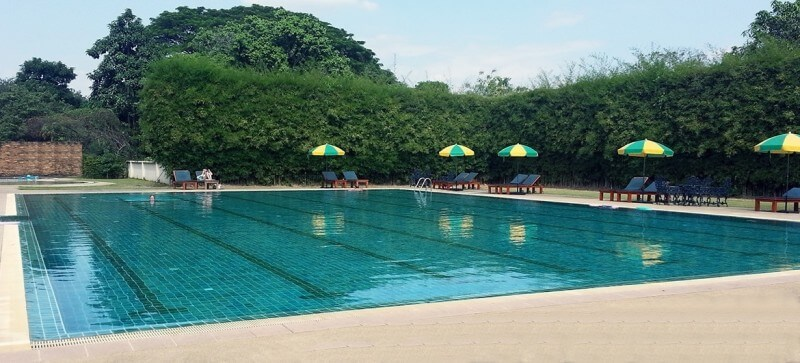 lap swimming at the centre of the universe chiang mai swimming pool and resort
